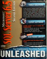 Microsoft SQL server 6.5 unleashed by David S. Solomon