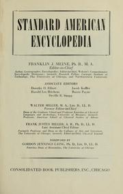 Cover of: Standard American encyclopedia | Walter Miller