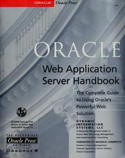 Cover of: Oracle Web application server handbook |