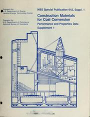 Cover of: Construction materials for coal conversion | Helen M. Ondik