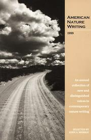 Cover of: American Nature Writing 1999 | John A. Murray