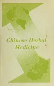 Cover of: Chinese herbal medicine | Chen-Pien Li