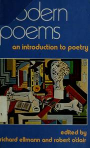 Cover of: Modern poems | edited by Richard Ellmann and Robert O'Clair.