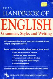 Cover of: REA's Handbook of English grammar, style, and writing | staff of Research and Education Association.
