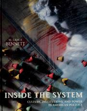 Cover of: Inside the system | W. Lance Bennett
