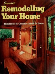 Cover of: Sunset ideas for remodeling your home |
