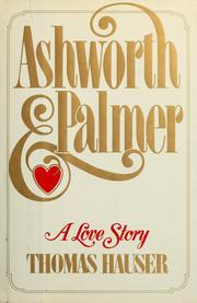 Cover of: Ashworth & Palmer | Thomas Hauser