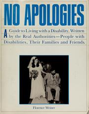 Cover of: No apologies | Florence Weiner