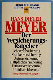 Cover of: Der Versicherungs-Ratgeber | Hans Dieter Meyer