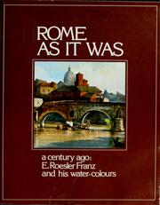 Cover of: Rome as it was | Sergio Cartocci