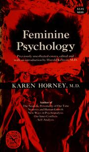 Cover of: Feminine psychology