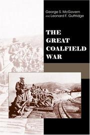 Cover of: The great coalfield war