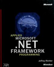 Cover of: Applied Microsoft .NET Framework Programming | Jeffrey Richter