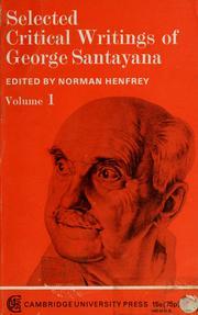 Selected critical writtings of George Santayana