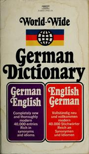Cover of: World-wide German dictionary | Paul H. Glucksman