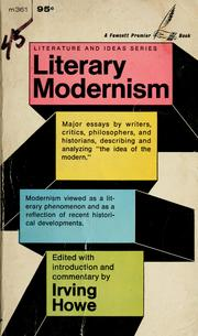 Cover of: Literary modernism. | Irving Howe