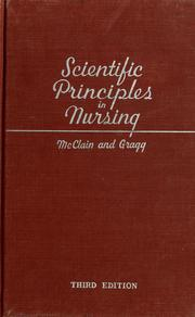 Cover of: Scientific principles in nursing | Mary Esther McClain