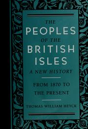 Cover of: The peoples of the British Isles by Stanford E. Lehmberg
