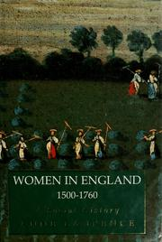 Women in England, 1500-1760 by Anne Laurence