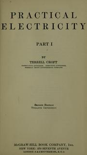 Cover of: Practical electricity by Terrell Croft