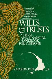 Cover of: Wills & trusts | Charles F. Hemphill