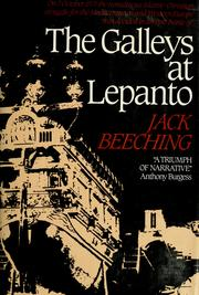 Cover of: The galleys at Lepanto by Jack Beeching