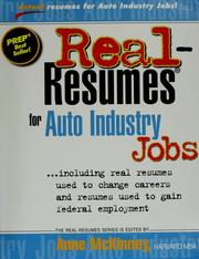 Cover of: Real-Resumes for Auto Industry Jobs | Anne McKinney