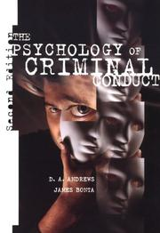 The psychology of criminal conduct by D. A. Andrews
