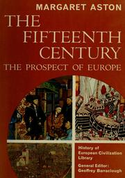 Cover of: The fifteenth century | Margaret Aston