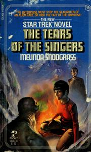 Cover of: The Tears of Singers | Melinda Snodgrass