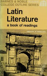 Latin literature by Frederic M. Wheelock