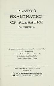 Cover of: Plato's examination of pleasure by Plato