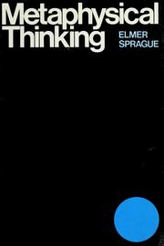 Metaphysical thinking by Elmer W. Sprague