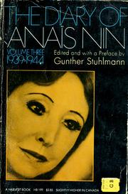 Cover of: The diary of Anaïs Nin. by Anaïs Nin