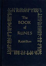 The Book Of Runes 1987 Edition Open Library