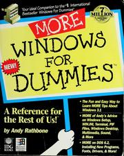 Cover of: More Windows for dummies | Andy Rathbone