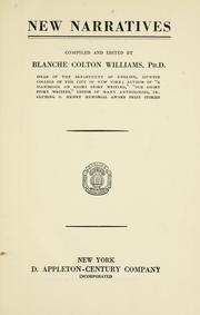 Cover of: New narratives by Williams, Blanche Colton