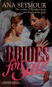 Cover of: Brides For Sale (Harlequin Historical, No 238) | Seymour