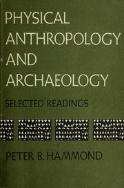 Cover of: Physical anthropology and archaeology | Peter B. Hammond