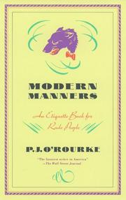 Cover of: Modern manners