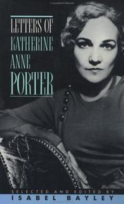 Cover of: Letters of Katherine Anne Porter