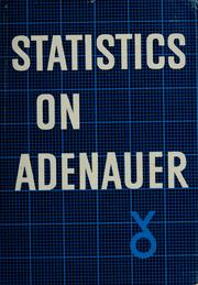 Statistics on Adenauer by Erich Peter Neumann