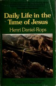 Cover of: Daily Life in the Time of Jesus by Henri Daniel-Rops