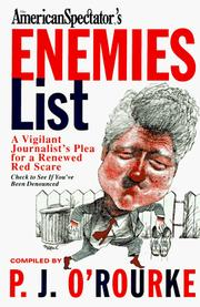 Cover of: American Spectator's Enemies List