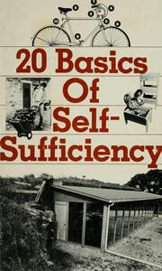 Cover of: 20 basics of self-sufficiency | by the editors of Rodale Press, Inc.