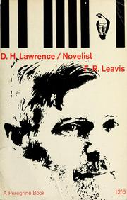 Cover of: D.H. Lawrence, novelist