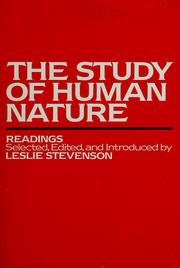 Cover of: The Study of human nature |