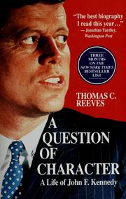 Cover of: A question of character | Thomas C. Reeves