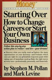 Cover of: Starting over | Stephen M. Pollan