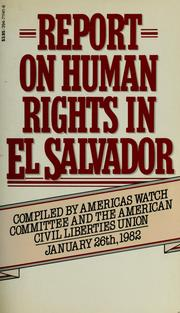 Cover of: Report on human rights in El Salvador |
